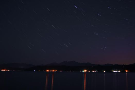 Starry Night Over the Hood Canal by TheBelfig