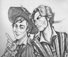 Don Giovanni e Leporello by squonkhunter