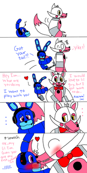 Lil Tim and Funtime Foxy by MCKILLER1910