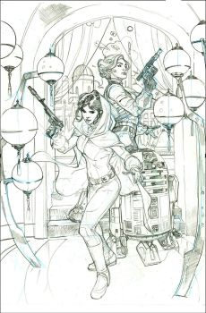 Star Wars: Princess Leia #2 Cover Pencils by TerryDodson