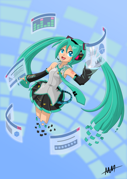 Personal Assistant Hatsune Miku by Drewdini