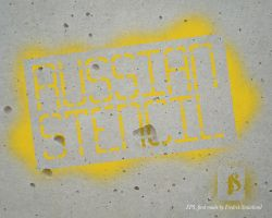 Russian Stencil font by Staurland