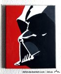 Darth Vader popart painting by rbl3d