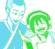 Sokka x Toph by compoundbreadd