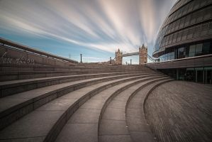 London Town Hall and Tower Bridge by dynamick