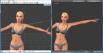 Comparison of Rigs in MMD and Blender by Malik-Hatsune