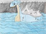 Lapras sailing during a storm by PokeLoverMeso