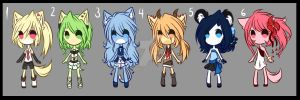 +. Adoptables 01 .+ OPEN 3/6 by Umishii