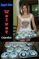 Royal Blue Velvet Cupcakes by Anastas-C