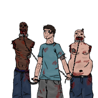 Zombie Slaves (No Background) by TheLonelyFeel