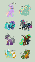 FiM:Character Designs for Sale by SagaWolf