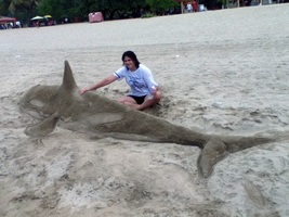 Me and My Sand Orca :D by IveWasHere