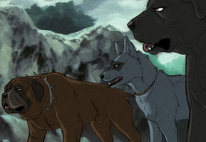 Ginga Redraw: Mastiffs and a Mutt by Shadow-Chu