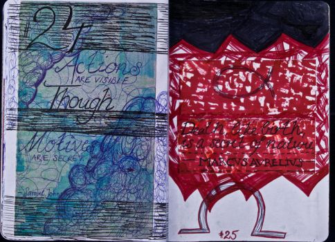 Sketchbook Project Limited Edition 2012 #24-25 by Nakilicious