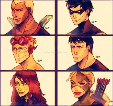 Young justice by MabyMin