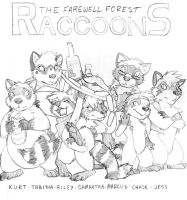 Farewell Forest Raccoons by RickGriffin