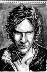 Han Solo sketch by dexterwee
