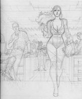 Comic book panel by Goldmanpenciler