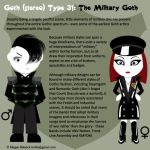 Goth Type 31: The Military Goth by Trellia