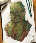 Swamp Thing (Commission) by TheLittleArtyThing