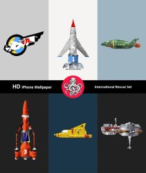 iPhone HD : Polygon Thunderbirds IR Wall Pack by polygn