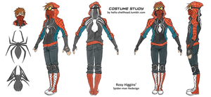 COSTUME STUDY - rosy's spidey by FISHNONES