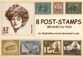 Old stamp by NadinePau-stock