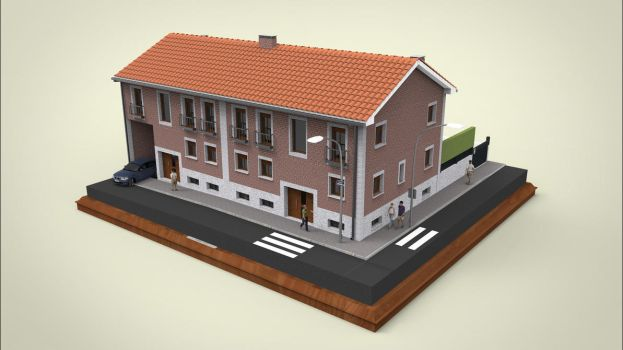 Semi Detached House Exteior by sanchiesp