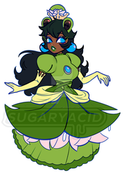 Bowsette But the Frog From Super Mario Odyssey by sugaryacidart