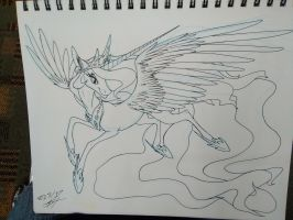Celestia sketch by grievousfan