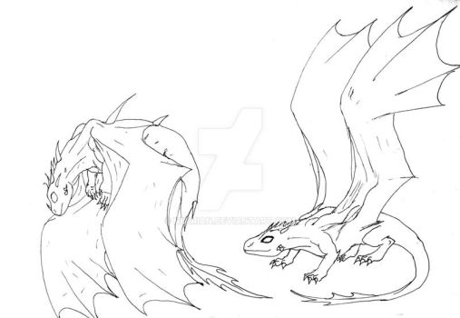 Flying Lessons, linework by Nicirian