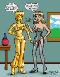 Natalie and the New Statue by Gildsoul by Gildsoul