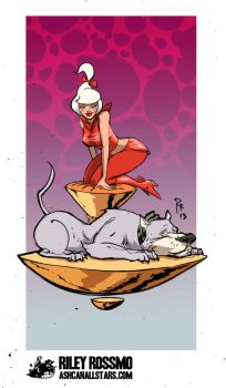 Judy Jetson and Astro by Riley Rossmo by AshcanAllstars