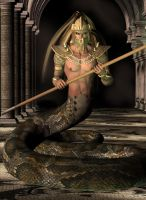 Naga Warrior by curiousping