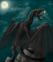 A Black Dragon by DargonXKS
