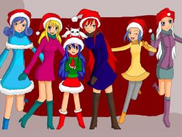 Merry Christmas Fairy Tail Style by monstermuffin94