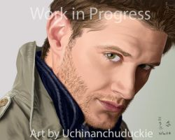 Jensen Ackles Painting-small by UchinanchuDuckie