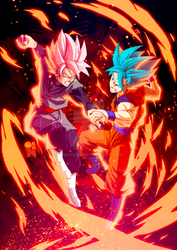 Black Goku rose VS Goku SSGSS
