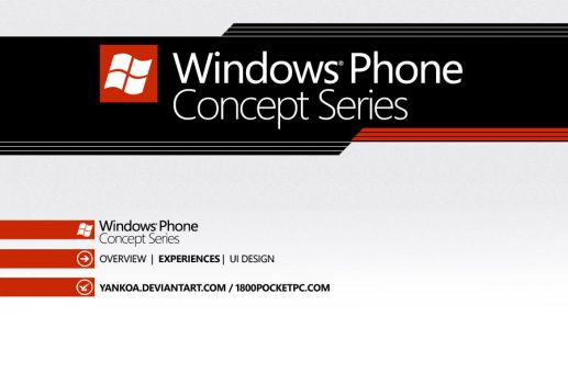 Windows Phone Concept Series by yankoa