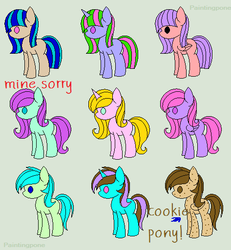Pony adoptables (OPEN) by roxellover101