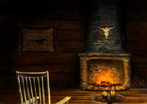 Fireplace by DreamingHermit