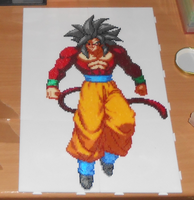 Goku SSJ4 (Mini-Beads) by FTWBAmanojaku