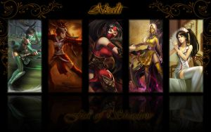 Akali background by K4tEe