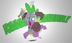 Spike, The Dragonborn by SupaCrikeyDave