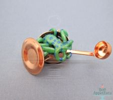 Commission: Octopus in a 1:12 Copper Pot by PepperTreeArt