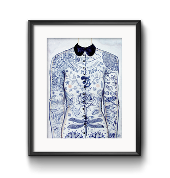 Blue Ink Blouse by cuygirl