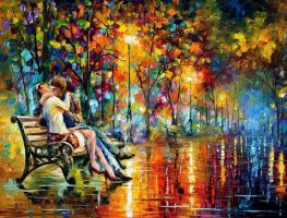 Passion Evening by Leonid Afremov by Leonidafremov