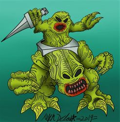 Monster In My Pocket: Radioactive Uranian Rodent by KingKevzilla
