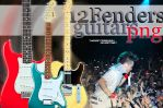 12 Fenders Guitars PNG by TheSofterSideAv