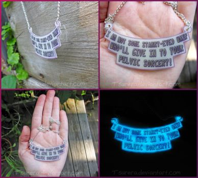 Guardians of the Galaxy Gamora Quote Necklace by Tsurera
